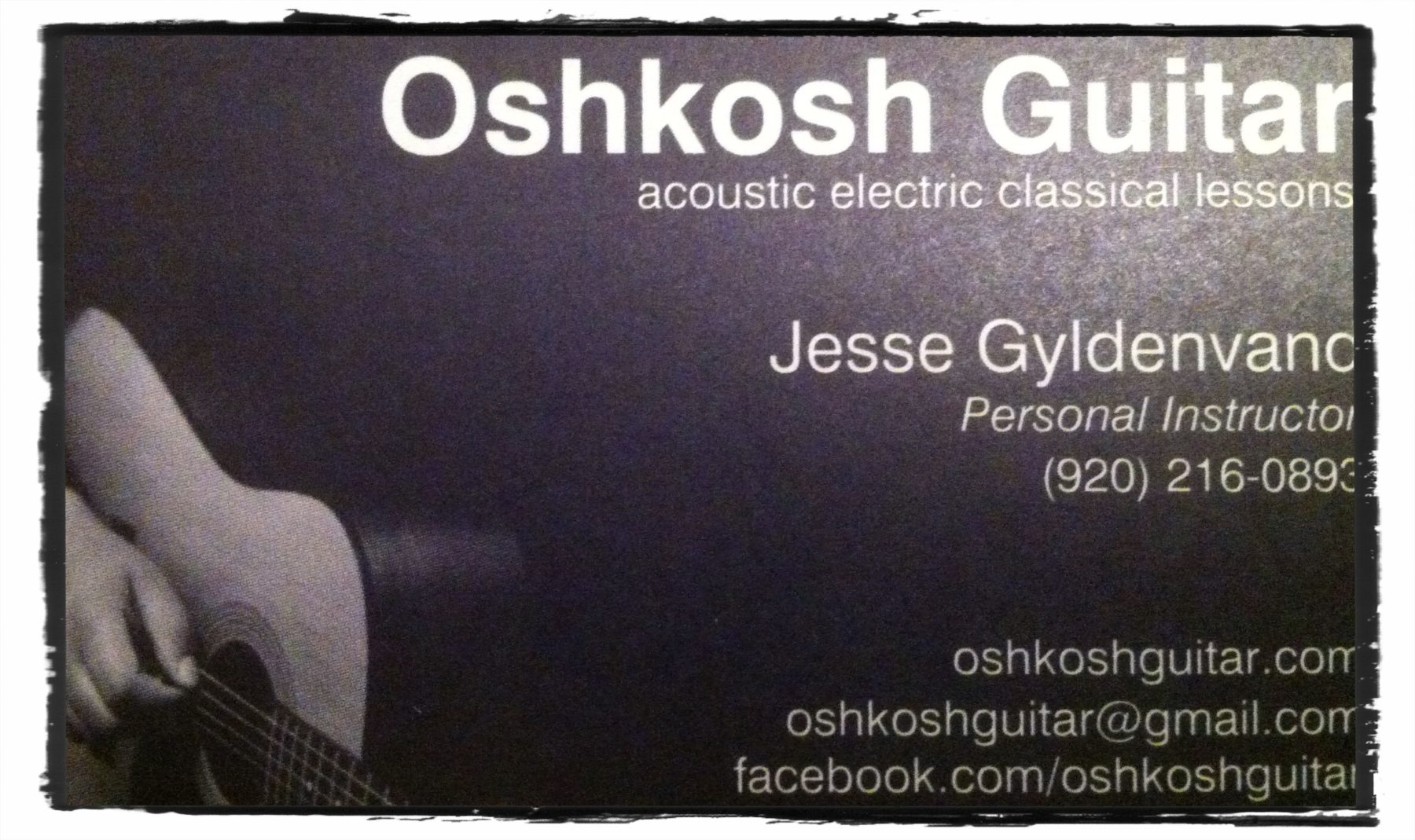 new oshkosh guitar business cards private